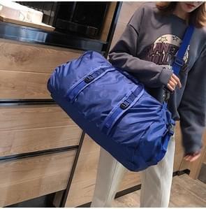 Opvouwbare nylon schouder reistas Leisure sport handtas (blauw)