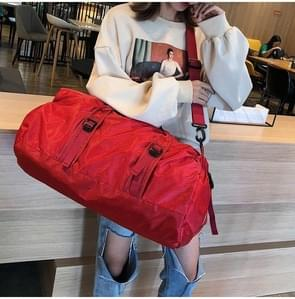 Opvouwbare nylon schouder Travel Bag Leisure sport handtas (rood)