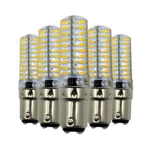 5st YWXLight BA15D 5W 80LEDs SMD 4014 energiebesparende LED siliconen Lamp (koud wit)