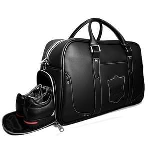 PGM Golf draagbare grote capaciteit echte lederen bal tas kleding tas voor mannen  ingebouwde Shoe Bag