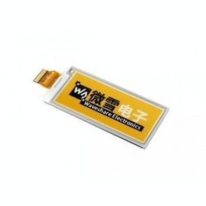 Waveshare 2 9 inch 296x128 pixel geel zwart wit drie kleuren E-Ink RAW display (C)