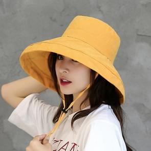 Casual zonneklep visser hoed (geel)