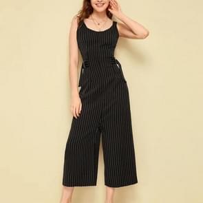 Verticale Vest One-Piece 9-punts breedpootbroek (kleur:zwart formaat:XL)