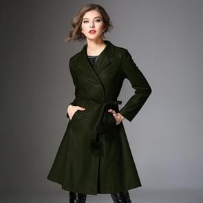 Fashion Mid-length PU Leren Jas (Kleur: Groene maat: M)