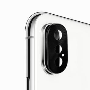 Enkay Hat-Prins Rear Camera Lens metaal bescherming Cover voor iPhone XS (zwart)