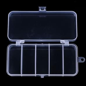 HENGJIA qt026 Five Grid Waterproof Multifunction Fishing Tool Gear Storage Transparent Fishing Tackle Box