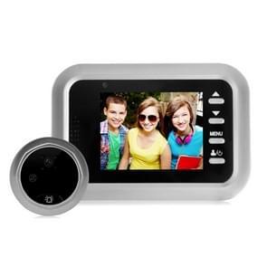 W8-S 2 4 inch scherm 2.0MP beveiligingscamera geen storen Peephole Viewer  Ondersteuning TF Card (Zilver)