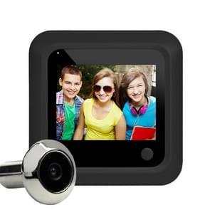 X5 2 4 inch Scherm 2.0MP Beveiligingscamera Geen storen Peephole Viewer  Ondersteuning TF Card (Zwart)