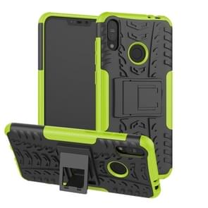 Tire Texture TPU+PC Shockproof Case for Asus Zenfone Max (M2), with Holder (Green)