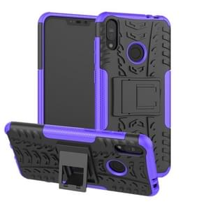 Tire Texture TPU+PC Shockproof Case for Asus Zenfone Max (M2), with Holder (Purple)