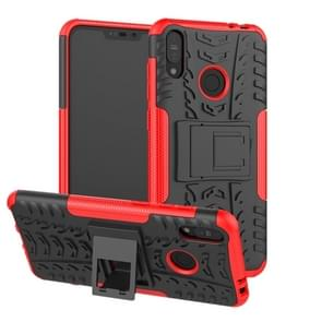 Tire Texture TPU+PC Shockproof Case for Asus Zenfone Max (M2), with Holder (Red)