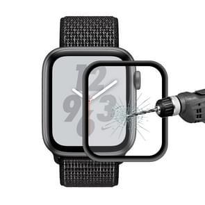 ENKAY Hat-Prins 0.2mm 9H 3D aluminiumlegering Frame volledig scherm glas Film voor Apple Watch serie 4 44mm(Black)