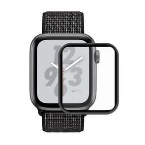 ENKAY Hat-Prins 3D volledig scherm galvaniseren PET gebogen warmte buigen HD Screen Protector voor Apple Watch serie 4 44mm (zwart)