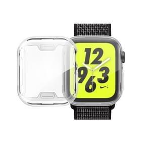 volledige Plating TPU Case voor Apple Watch serie 4 40mm (zilver)
