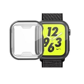volledige Plating TPU Case voor Apple Watch serie 4 44mm (zwart)