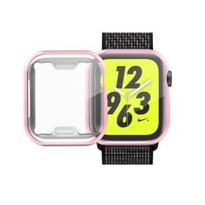 volledige Plating TPU Case voor Apple Watch serie 4 44mm (roze)