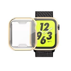 volledige Plating TPU Case voor Apple Watch serie 4 44mm (goud)
