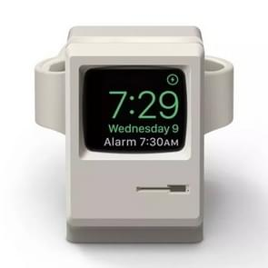 Retro Style Silica Gel Apple Watch Charging Dock Stand Holder Station(Grey)