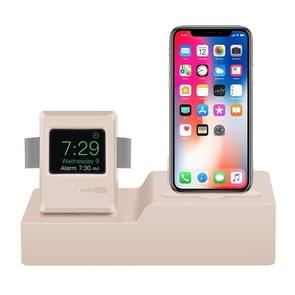 Classic Design 3 in 1 Charging Dock Stand Holder Station for Airpods & iPhone & Apple Watch (Rose Gold)