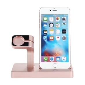 Multi-function Charging Dock Stand Holder Station for Apple Watch Series 42mm / 38mm, iPhone 5 / 5s / 6 / 6s / 7 / 7 Plus (Rose Gold)