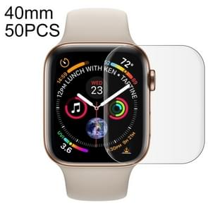 50 PCS For Apple Watch Series 5 & 4 40mm Soft PET Film Full Cover Screen Protector(Transparent)