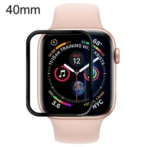 For Apple Watch Series 5 & 4 40mm Soft PET Film Full Cover Screen Protector(Black)