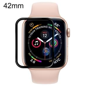 For Apple Watch 42mm Soft PET Film Full Cover Screen Protector(Black)