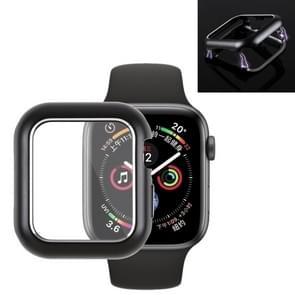 Magnetische metalen Frame beschermhoes voor Apple Watch serie 4 44mm (zwart)