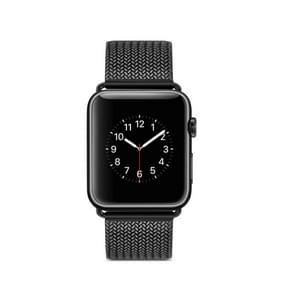 Roestvrijstalen horlogeband voor Apple Watch serie 3 & 2 & 1 38mm(Black)