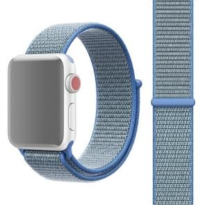 For Apple Watch Series 3 & 2 & 1 42mm Simple Fashion Nylon Watch Strap with Magic Stick(Blue)