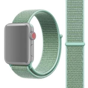 For Apple Watch Series 3 & 2 & 1 38mm Simple Fashion Nylon Watch Strap with Magic Stick(Mint Green)