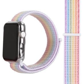 Magische plakken Nylon horloge Band voor Apple Watch serie 3 & 2 & 1 38mm (kleur)