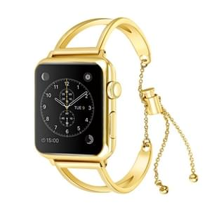 Letter V Shape Bracelet Metal Wrist Watch Band with Stainless Steel Buckle for Apple Watch Series 3 & 2 & 1 38mm (Gold)