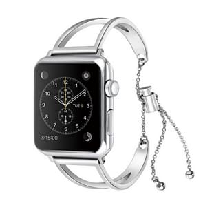 Letter V Shape Bracelet Metal Wrist Watch Band with Stainless Steel Buckle for Apple Watch Series 3 & 2 & 1 42mm (Silver)