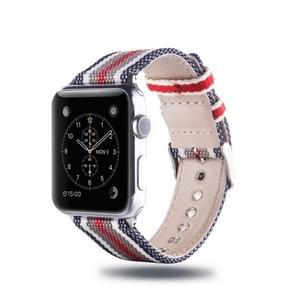 Eenvoudige manier Nylon armbanden voor Apple Watch-serie 3 & 2 & 1 38mm  met Connector