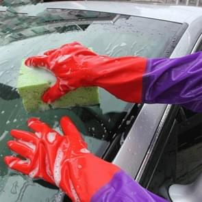 Car Wash Latex Gloves Plus Velvet Double, Pair