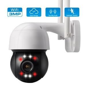 ZS-3008 3.0MP WiFi PTZ Dome Camera afstandsbediening monitor  ondersteuning motion detection  infrarood nachtzicht  TF-kaart  twee-weg audio (wit)