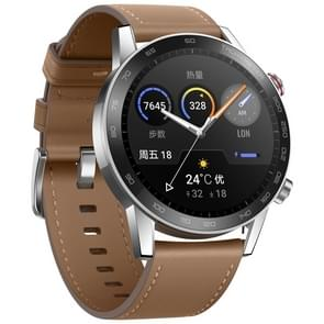 HUAWEI Honor MagicWatch 2 46mm Fashion Wristband Bluetooth Fitness Tracker Smart Watch, Support GPS / Heart Rate / Blood Oxygen Monitoring/ Sleep Monitor / Barometer / Exercise Pedometer /  Call Reminder / Pressure Monitoring (Brown)