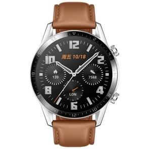 HUAWEI WATCH GT 2 46mm Fashion Wristband Bluetooth Fitness Tracker Smart Watch, Kirin A1 Chip, Support Heart Rate / Pressure Monitoring / Exercise / Pedometer / Call Reminder (Brown)
