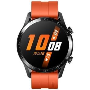 HUAWEI WATCH GT 2 46mm Sport Polsband Bluetooth Fitness Tracker Smart Watch  Kirin A1 Chip  Support Hartslag / Drukbewaking / Oefening / Stappenteller / Oproep Herinnering (Oranje)