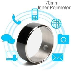 JAKCOM R3F Amorphous Titanium Alloy Smart Ring, Waterproof & Dustproof, Health Tracker, Wireless Sharing, Push Message, Inner Perimeter: 70mm(Black)(Black)