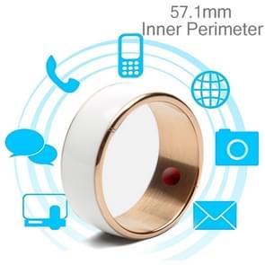 JAKCOM R3F 18K Rose Gold Smart Ring, Waterproof & Dustproof, Health Tracker, Wireless Sharing, Push Message, Inner Perimeter: 57.1mm(White)