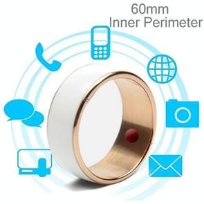 JAKCOM R3F 18K Rose Gold Smart Ring, Waterproof & Dustproof, Health Tracker, Wireless Sharing, Push Message, Inner Perimeter: 60mm(White)