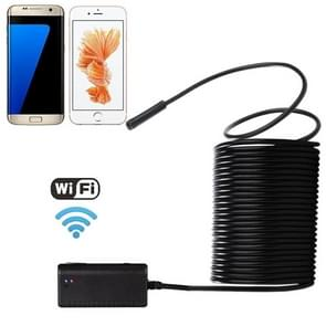 10m WiFi Endoscope Snake Tube Inspection Camera with 6 LED for Android & iOS 6 Or Above & Tablet PC, Wireless Distance: About 15m, Lens Diameter: 5.5mm (Black)
