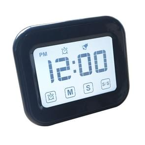 Kitchen Timer Digital Alarm Clock Large LCD Touch Screen Come with Night Light for Cooking Baking(Black)