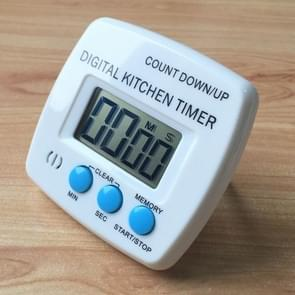 Kitchen Timer Digital Electronic Loud Alarm Magnetic Backing With Holder for Cooking Baking Sports Games Office(Blue)