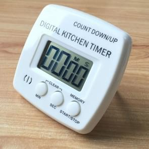 Kitchen Timer Digital Electronic Loud Alarm Magnetic Backing With Holder for Cooking Baking Sports Games Office(White)