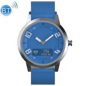 Lenovo Watch X OLED-scherm 316L roestvrijstalen waterdichte Bluetooth 5.0 Sport Smart Watch met siliconenriem  ondersteuning hartslagsensor / slaapmonitor / gebarenfoto (blauw)