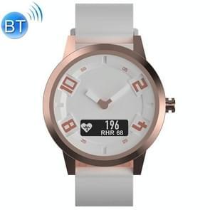 Lenovo Watch X OLED-scherm 316L roestvrijstalen waterdichte Bluetooth 5.0 Sport Smart Watch met siliconenriem  ondersteuning hartslagsensor / slaapmonitor / gebarenfoto (wit)