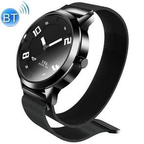 Lenovo Watch X 316L roestvrijstalen waterdichte Bluetooth 5.0 Smart Watch met Milanese band  ondersteuning hartslagsensor / slaapmonitor / gebarenfoto (zwart)